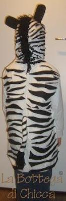 Vestito carnevale zebra