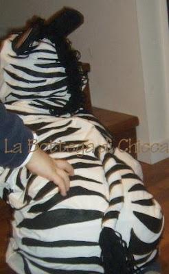 carnevale vestito da zebra fai da te