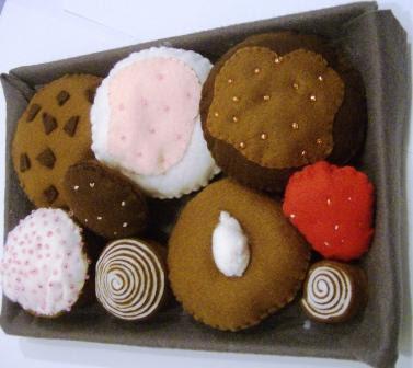 biscotti pannolenci felt cookies