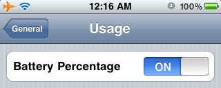 Battery percentage meter on every iPhone
