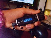 Mi Walkman... Si alcanzas a ver cuál es la canción que suena?