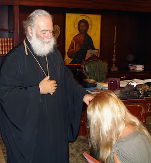 Patriarch Theodore II of Alexandria and All Africa blesses Vassula in 2007