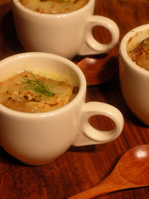 FENNEL n ONION SOUP w/Calvados and Melted Gruyere SOUP SHOOTER by Show Food Chef