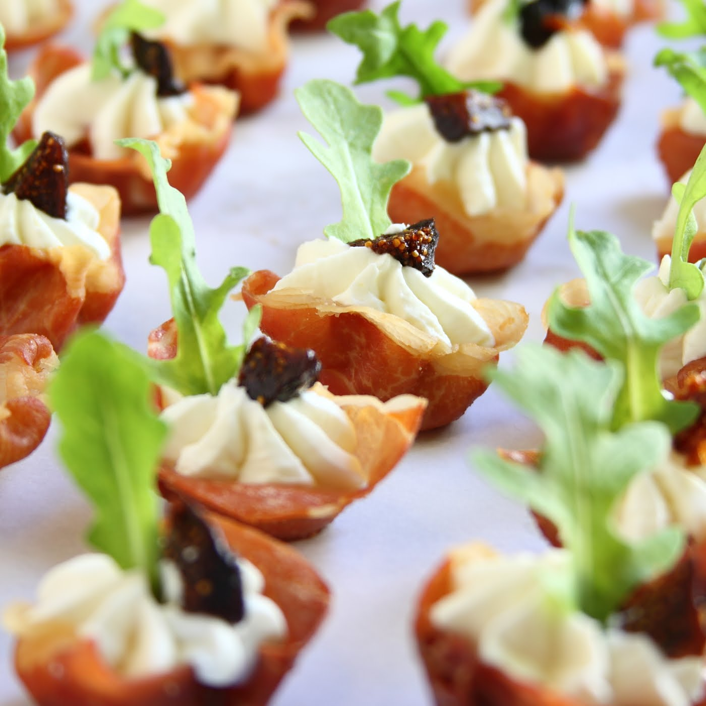 ShowFood Chef: Appetizer Prosciutto Cups with Goat Cheese and Fig ...