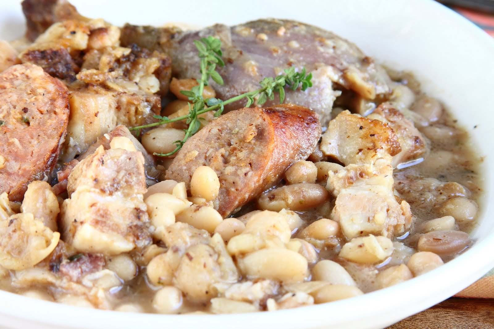 sausage cassoulet chorizo and gigante bean cassoulet white bean and ...