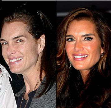 Celebrities+Without+Wearing+Makeup+brooke+shields