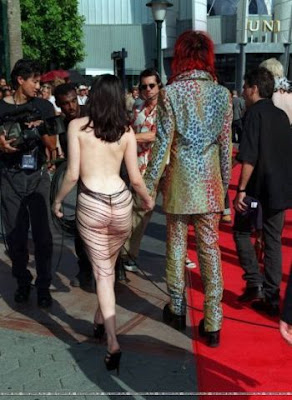 Rose Mcgowan In See Through Dress