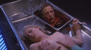 Barbara Crampton and David Gale get a good feel for their roles.