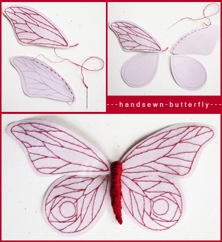 Momichka hand sewn paper butterfly for How to make paper butterflies for wall