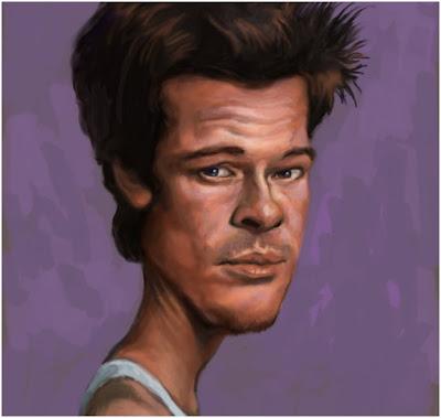 brad pitt caricature. Brad Pitt Caricatures