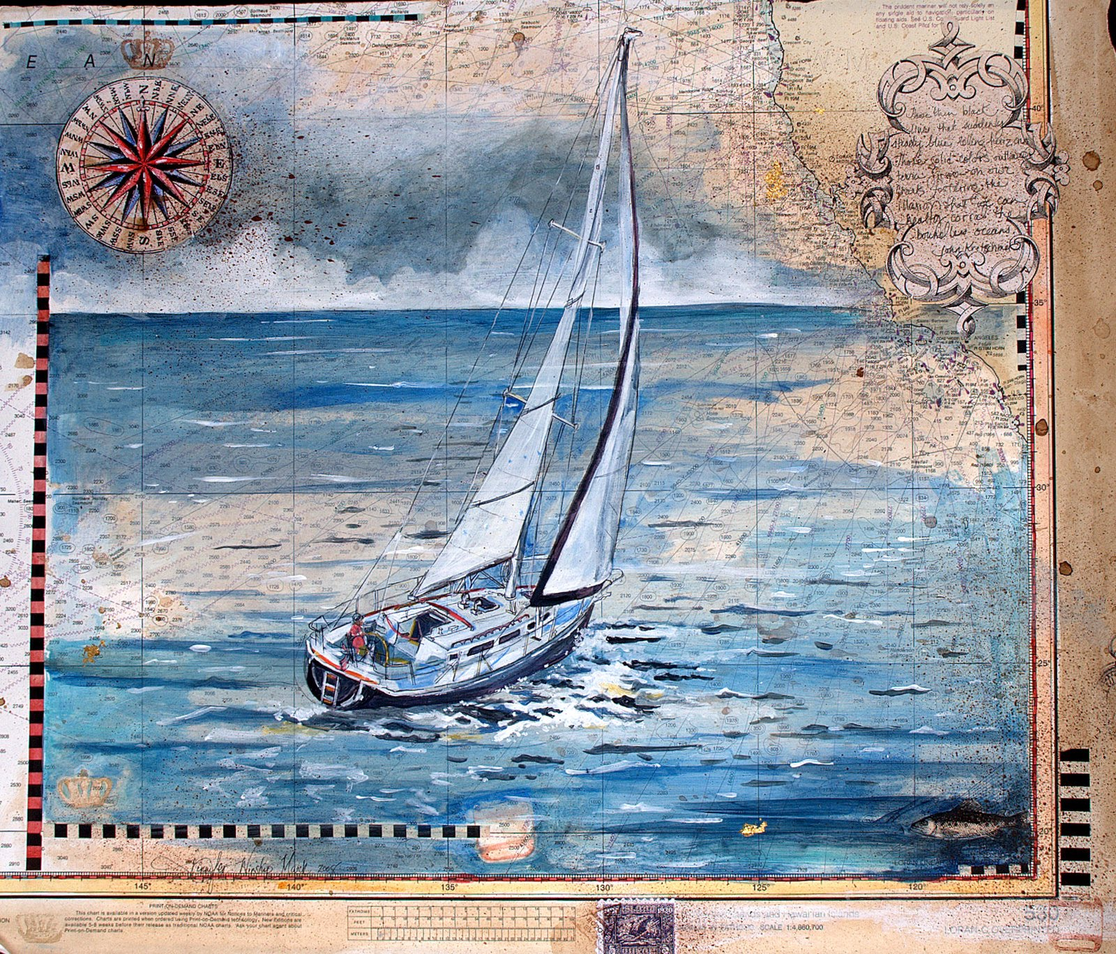 jennifer winship mark available paintings nautical charts