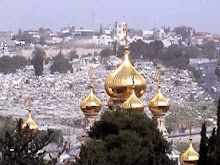 The golden onion domes of St Mary Magdalene