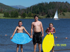 Skim boarding with Collin at Steamboat Lake