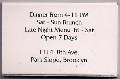 Menupages Brooklyn Park Slope