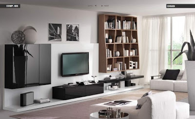 White-Black Living room