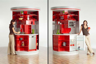 Modern Revolving Circular Kitchen