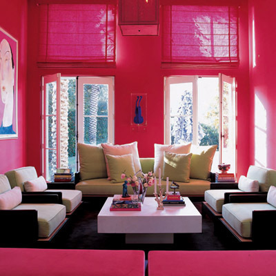 Too Much Pink? I Can Relate  In College, While Taking Interior Design, I  Experimented With Colour And Painted My Bedroom Hot Pink (shown In  Panoramic View ...