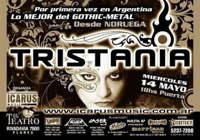 Tristania lo mejor del Gothic Metal en Buenos Aires 14/05/2008