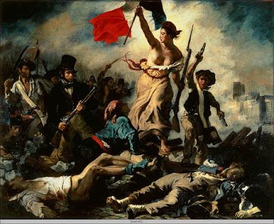Libertad guiando al pueblo.