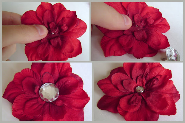 flower hairbow tutorial - holiday