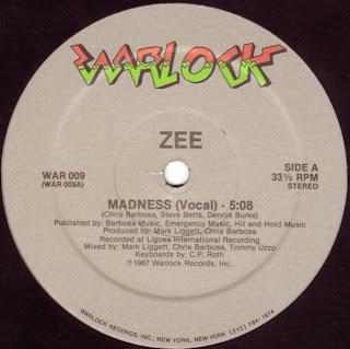Zee - Madness [12'' Vinyl 1987]