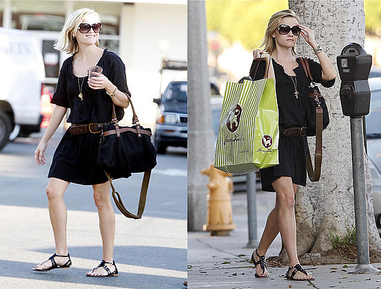 Reese Witherspoon left behind supposed boyfriend Jake Gyllenhaaal and spent