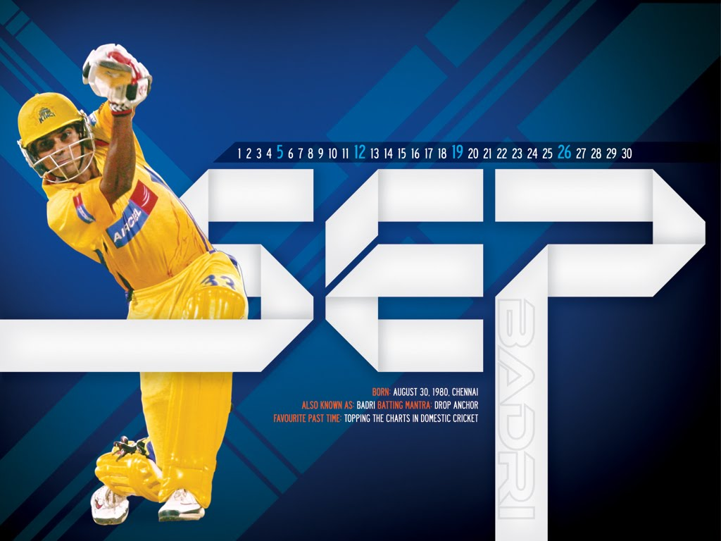 Chennai Super Kings - Badrinath Wallpapers