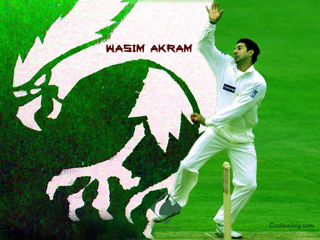Pakistan Cricket Players Biography Wallpapers Wasim Akram