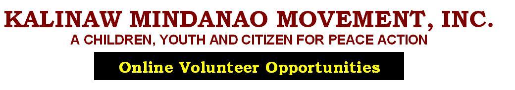 Online Volunteer