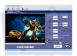 Baixar - 123 AVI to GIF Converter 3.0