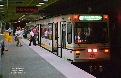 In pittsburgh s center city subway inroute to the south hills village