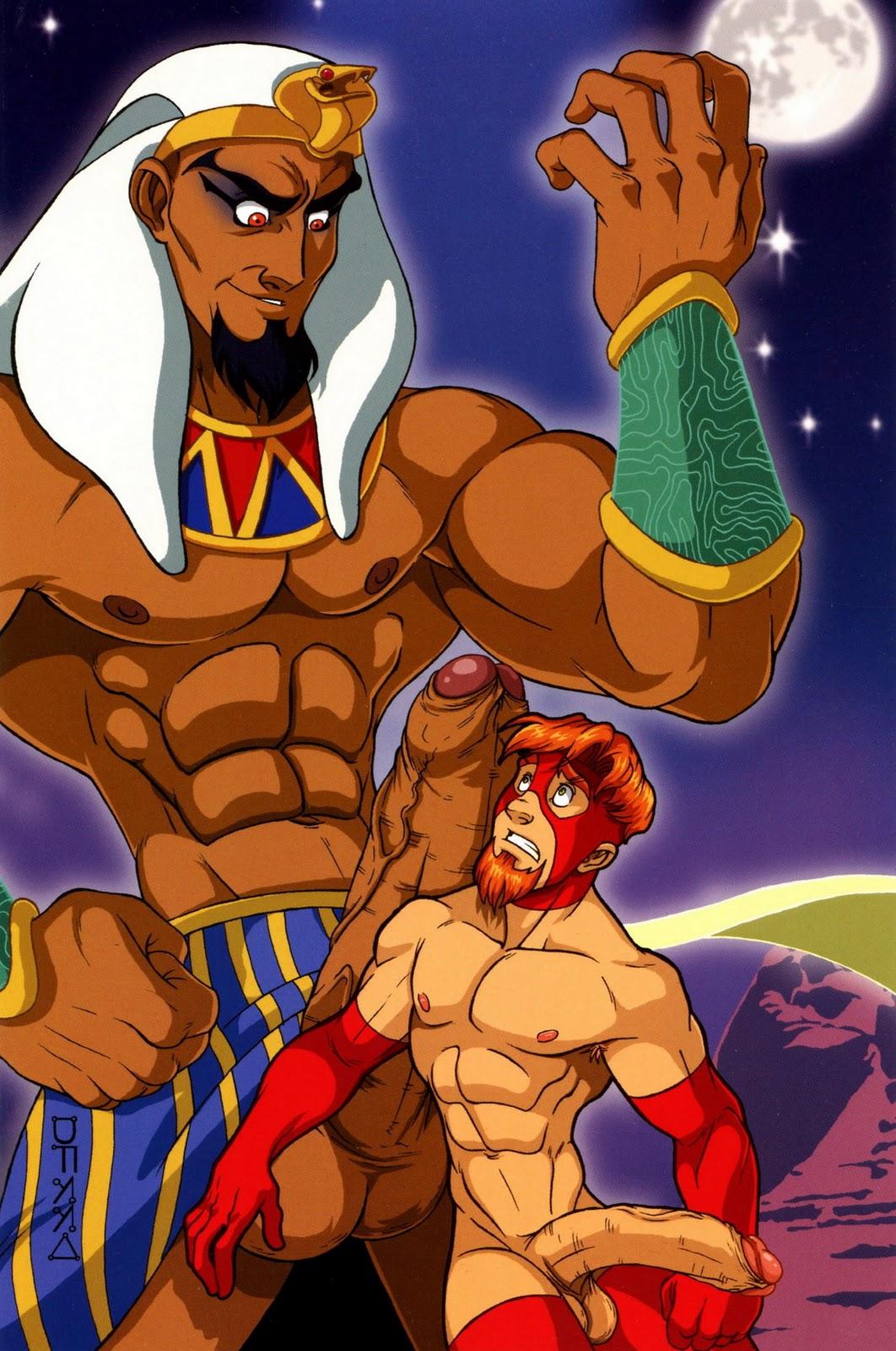 Superheroes super hero male men muscle nude naked