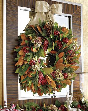 Williams Sonoma Magnolia Wreath