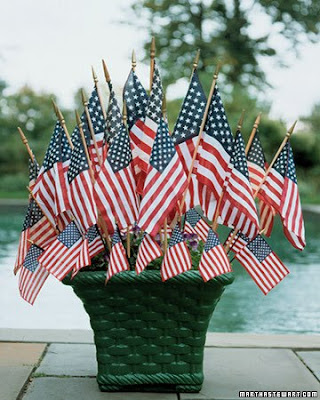 flag arrangement martha stewart