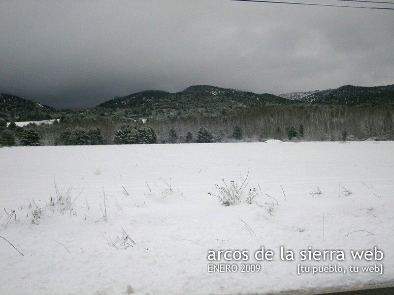 Nieve en Arcos de la Sierra, Enero de 2009