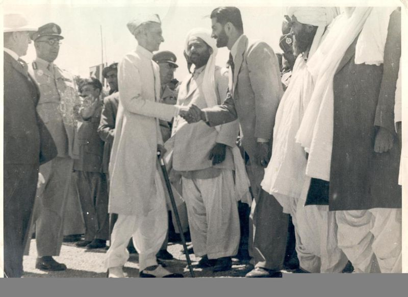 Quaid-e-Azam Mohammad Ali Jinnah with Nawab Akbar Bugti