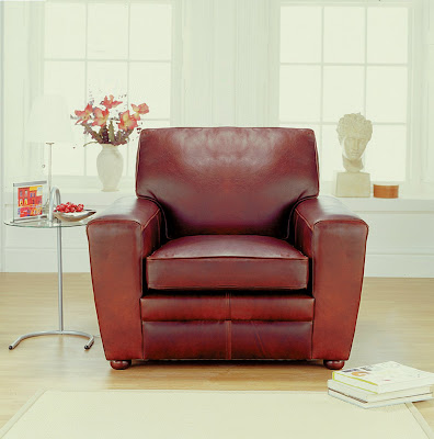 Statton Leather Armchair from Furniture 123