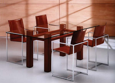 Domino Leather Dining Set from Furniture 123