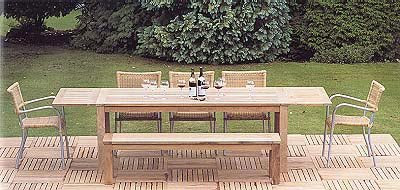 Pavilion Rattan - Antibes Complete Dining Table Set from Furniture 123