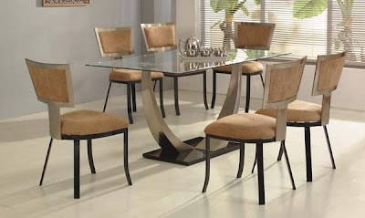 Chalta Rectangular Dining Set with Tan Chairs