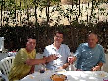 Con mis amigos Francisco Muñoz y Nicolas Terrados