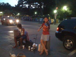 Dorise & Tanya in the Quarter at Twilight