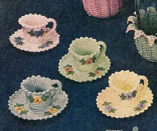 Pattern For Crocheted Tea Set Easy Crochet Patterns