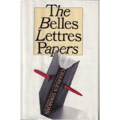belle-lettres essay Belles lettres: belles lettres, literature that is an end in itself and is not practical or purely informative the term can refer generally to poetry, fiction, drama.