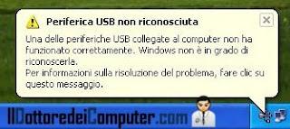 periferica USB non riconosciuta
