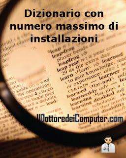 software con numero massimo di installazioni