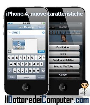 nuove caratteristiche iphone 4