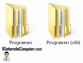 due cartelle programmi in Windows