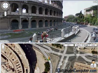 comparire nelle immagini di google street view