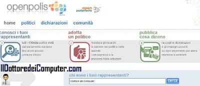 openpolis openparlamento monitora politici italiani